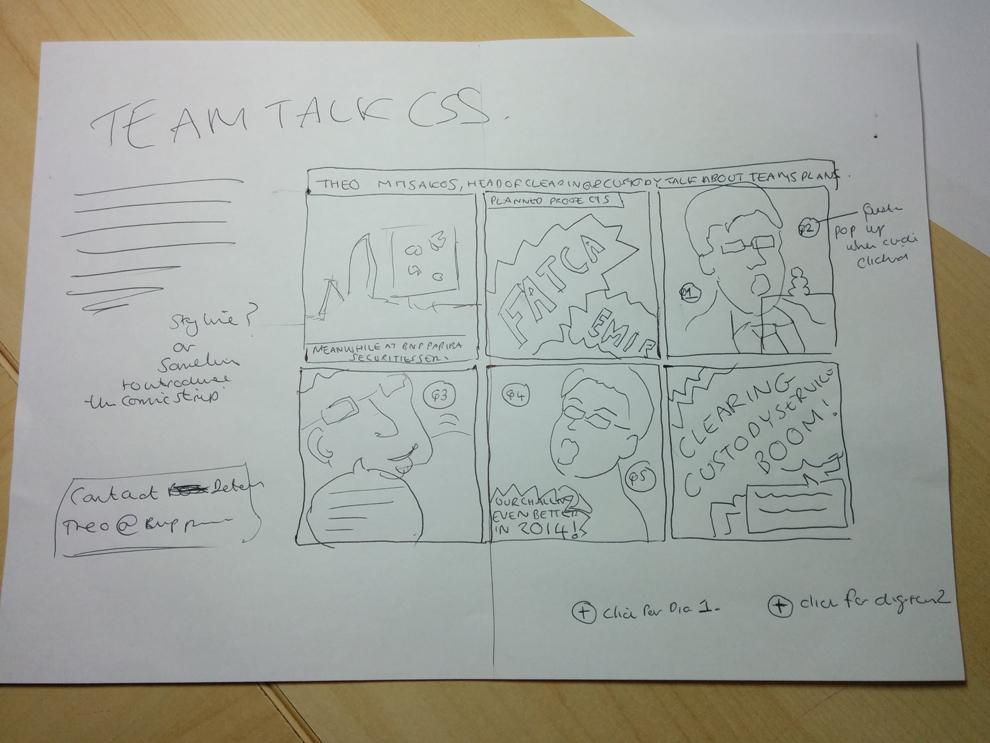 Comic concept sketch