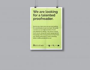 Proofreader poster